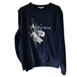 Carven Sweatshirt embroidered floral